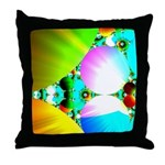 Crystal Sunrise Abstract Throw Pillow