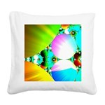 Crystal Sunrise Abstract Square Canvas Pillow