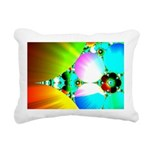 Crystal Sunrise Abstract Rectangular Canvas Pillow