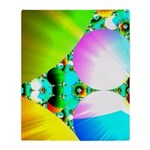 Crystal Sunrise Abstract Throw Blanket