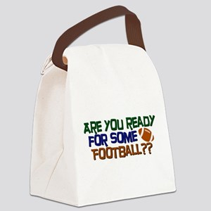 Football Season Canvas Lunch Bag