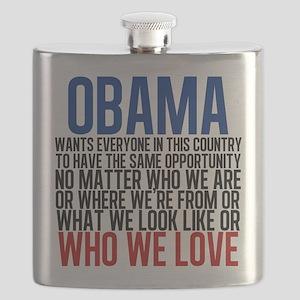 Obama Equality Flask