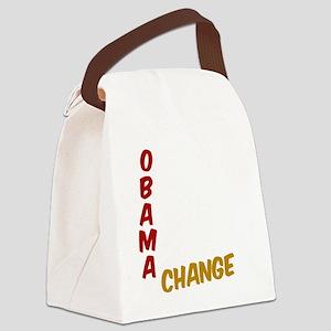 Obama For Change Canvas Lunch Bag