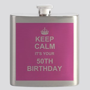 Keep Calm its your 50th Birthday Flask