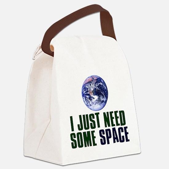 Astronaut Humor Canvas Lunch Bag