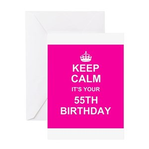 55th birthday greeting cards cafepress