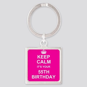 Keep Calm its your 55th Birthday Keychains