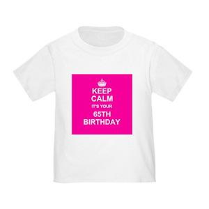 Age 65 Toddler T Shirts