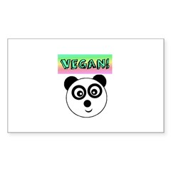 VEGAN! Panda Decal