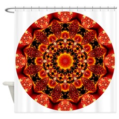Firewalk Abstract Shower Curtain