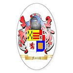 Farrah Sticker (Oval 50 pk)