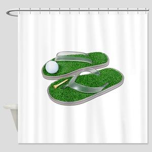 GolfShoesBallTee062011 Shower Curtain