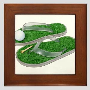 GolfShoesBallTee062011 Framed Tile