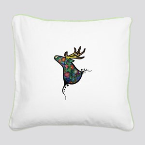 Spring Deer Square Canvas Pillow