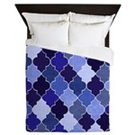 Morocco Blue Queen Duvet