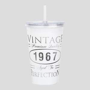 Vintage 1967 Birthday Acrylic Double-wall Tumbler