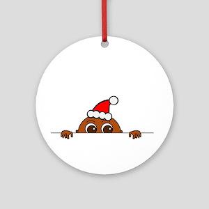Christmas Baby Peeking Ornament (Round)