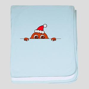 Christmas Baby Peeking baby blanket