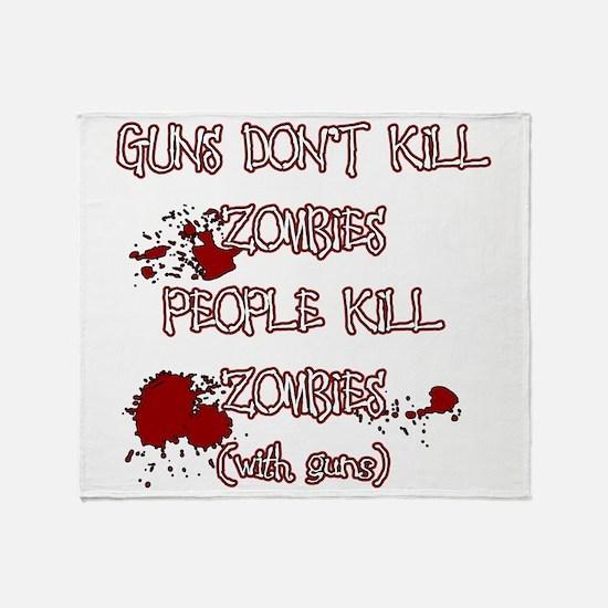 People Kill Zombies Throw Blanket