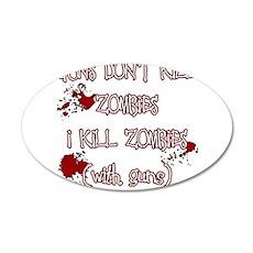 I Kill Zombies Wall Decal