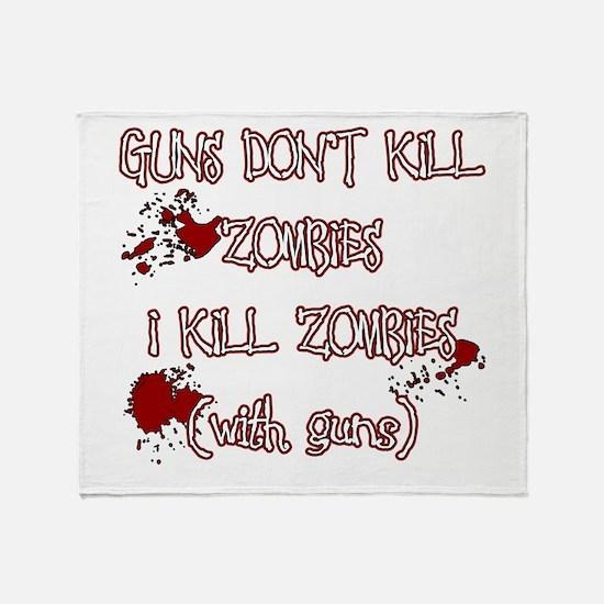 I Kill Zombies Throw Blanket