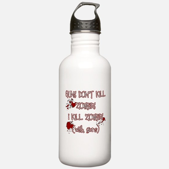 I Kill Zombies Water Bottle