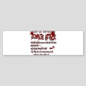 Zombie Attack Survival Bumper Sticker