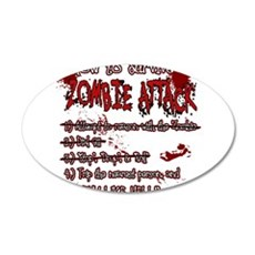 Zombie Attack Survival Wall Decal