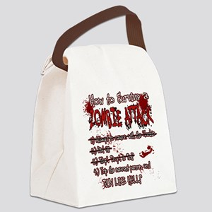 Zombie Attack Survival Canvas Lunch Bag