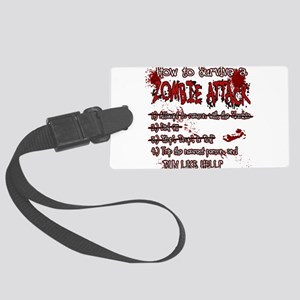 Zombie Attack Survival Luggage Tag