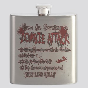 Zombie Attack Survival Flask