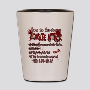 Zombie Attack Survival Shot Glass