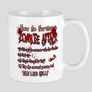 Zombie Attack Survival Mugs
