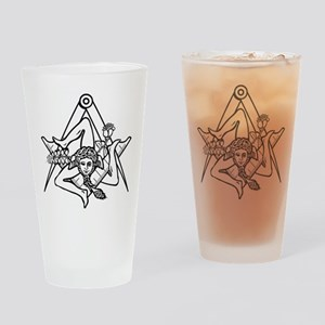 Freemasons Sicilian Trinacria Drinking Glass