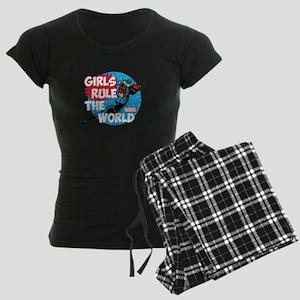 Girls Rule the World Women's Dark Pajamas