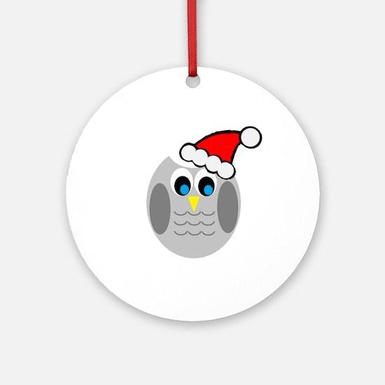 Christmas Owl Ornament (Round)
