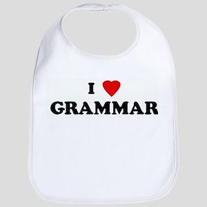 I Love GRAMMAR Bib