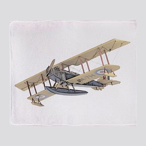 Curtiss JN-4 Jenny Float Plane Throw Blanket