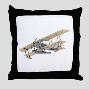 Curtiss JN-4 Jenny Float Plane Throw Pillow
