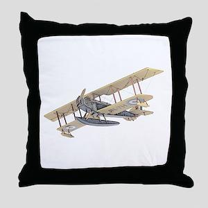 Curtiss JN-4 Jenny Float Plane Throw Pillow