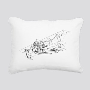 Curtiss JN-4 Jenny Float Plane Rectangular Canvas