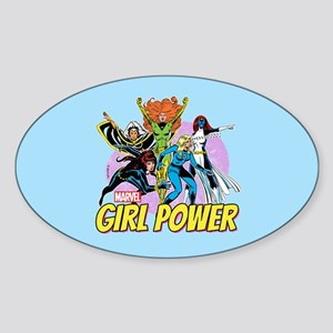 Marvel Girl Power Sticker (Oval)