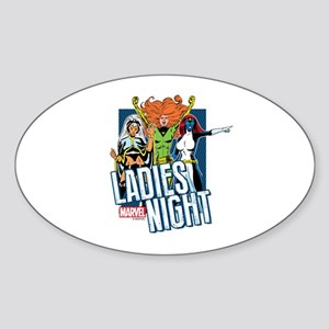 Marvel Ladies Night Sticker (Oval)