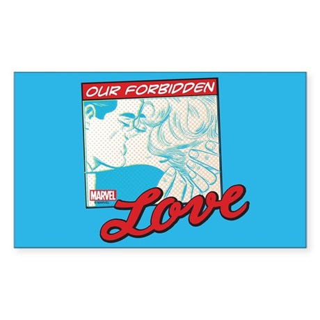 Marvel Forbidden Love Sticker (Rectangle)