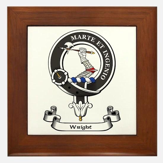 Badge-Wright [Edinburgh] Framed Tile