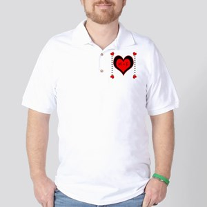 Cascading Hearts Monogram Golf Shirt