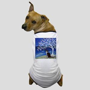 Tuxedo Cat Tree of Life Dog T-Shirt
