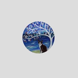 Tuxedo Cat Tree of Life Mini Button