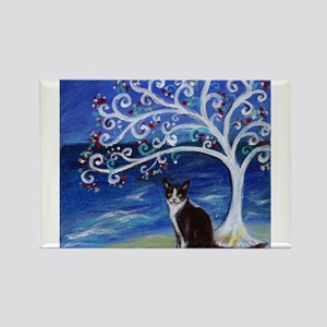 Tuxedo Cat Tree of Life Magnets