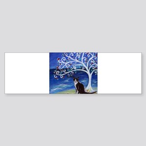 Tuxedo Cat Tree of Life Bumper Sticker